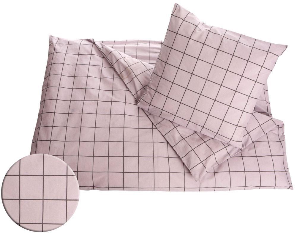 sengetøj 220x240 Bomuld sengesæt 240x220 cm Tern lys rosa sengetøj 220x240