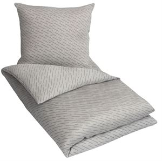 5e76859f5be Kingsize sengetøj - 100% Bomuldssatin - By Night - Rain grå - 240x220 cm -  Sengetøj med lynlås
