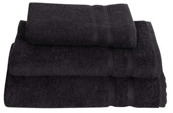 Billede af Håndklæde - 50x100 cm - Sort - 100% Bomulds frotté