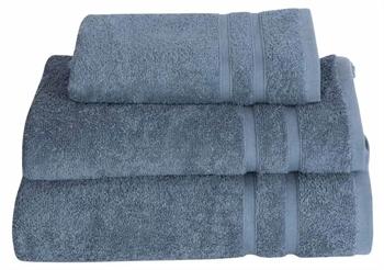Billede af Håndklæde - 50x100 cm - Støvet blå - 100% Bomulds frotté