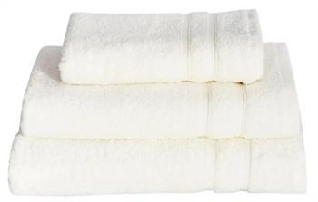 Billede af Håndklæde - 50x100 cm - Hvidt - 100% Bomulds frotté