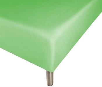 Boxlagen 90×200 cm – Grøn – 100% Bomuld – Faconlagen til madras