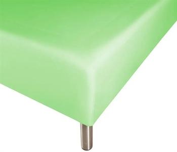 Boxlagen 90×200 cm – Lys grøn – 100% Bomuld – Faconlagen til madras