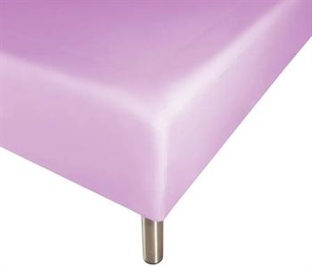 Boxlagen 90×200 cm – Lys lilla – 100% Bomuld – Faconlagen til madras