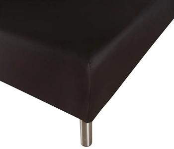 Stræklagen 90×200 cm – Sort – 100% Bomulds jersey – Faconlagen til madras