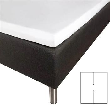 Splitlagen 180×210 cm – H-Lagen – Hvid – 100% Bomuldssatin – Til elevationsseng