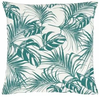 Pudebetræk 60x63 cm - Leaves Green - Grøn - 100% Bomuld