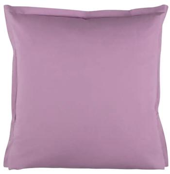 Pudebetræk 60x63 cm - Ensfarvet - lilla - 100% Bomuld