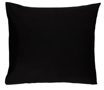 Pudebetræk 60x63 cm - Ensfarvet - Sort - 100% Bomuld