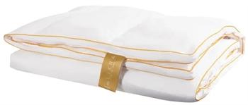 Satin moskusdyne - Let helårsdyne - 200x220 cm - Dobbelt dyne - dundyne - LIXRA Gold