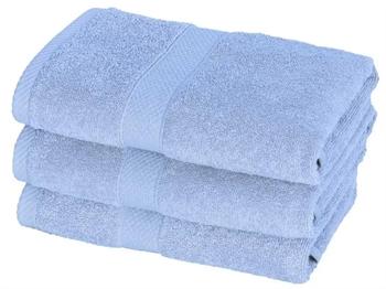 Billede af Håndklæde - 50x100 cm - Lyseblå - 100% Bomuld