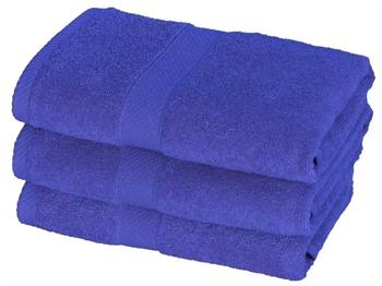 Billede af Håndklæde - 50x100 cm - Blå - 100% Bomuld