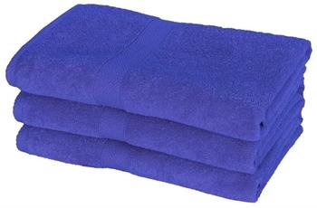 Billede af Badehåndklæde - 70x140 cm - Blå - 100% Bomuld