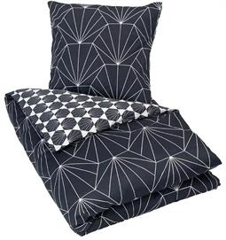 b80fba04d2e Dobbelt sengetøj 200x200cm - Hexagon mørk blå - 100% Bomuldssatin