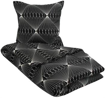 Sengetøj 140x220 cm - Diamond black - sort - Microfiber