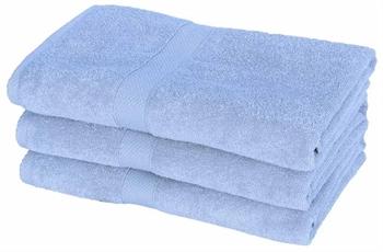 Billede af Badehåndklæde - 70x140 cm - Lyseblå - 100% Bomuld