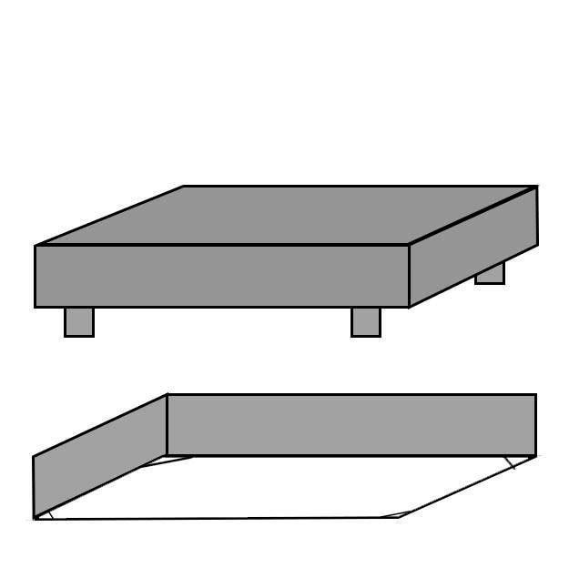 Ubrugte Faconlagen til dobbeltseng 180x200x45cm 100% bomuld Jerseylagen - Grå ZY-25
